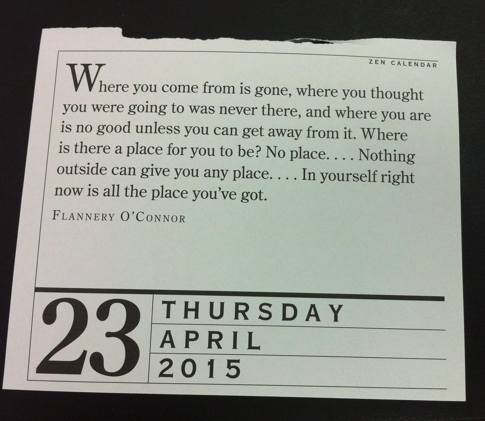 Zen Page A Day Calendar Zensanity